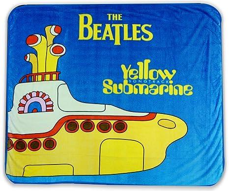 Amazon The Beatles Yellow Submarine Fleece Trow Blanket Home Amazing Beatles Throw Blanket