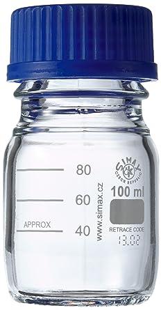 neoLab E-1429 Frascos de laboratorio, GL 45, 100 ml, rosca ISO