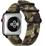 For Apple Watch バンド, Fintie 編みナイロン 時計バンド 交換ベルト アップルウォッチ交換ストラップ iWatch Apple Watch Series 44mm, Series 3 / Series 2 / Series 1 42mm 対応 (カモグリーン)
