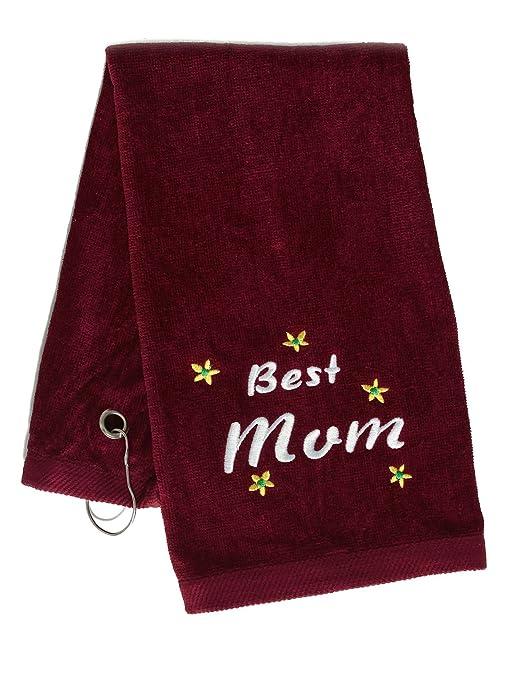"""Simplicity bordado con """"best mom"""" personalizado 100% algodón toalla de mano"""