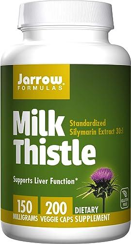 Jarrow Formulas Milk Thistle Silymarin Marianum , Promotes Liver Health, 150 mg per Capsule, 200 Count