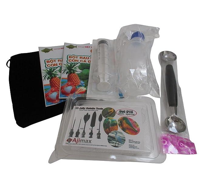 Amazon.com: Starter Kit Mini 3D Jelly Gelatin Tools Gracilaria Art Jello Cake Stork/Sparrow (Mini Kit #15): Kitchen & Dining