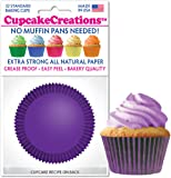 Plum Purple Cupcake Baking Cup Liners 32 Count by Cupcake Creations