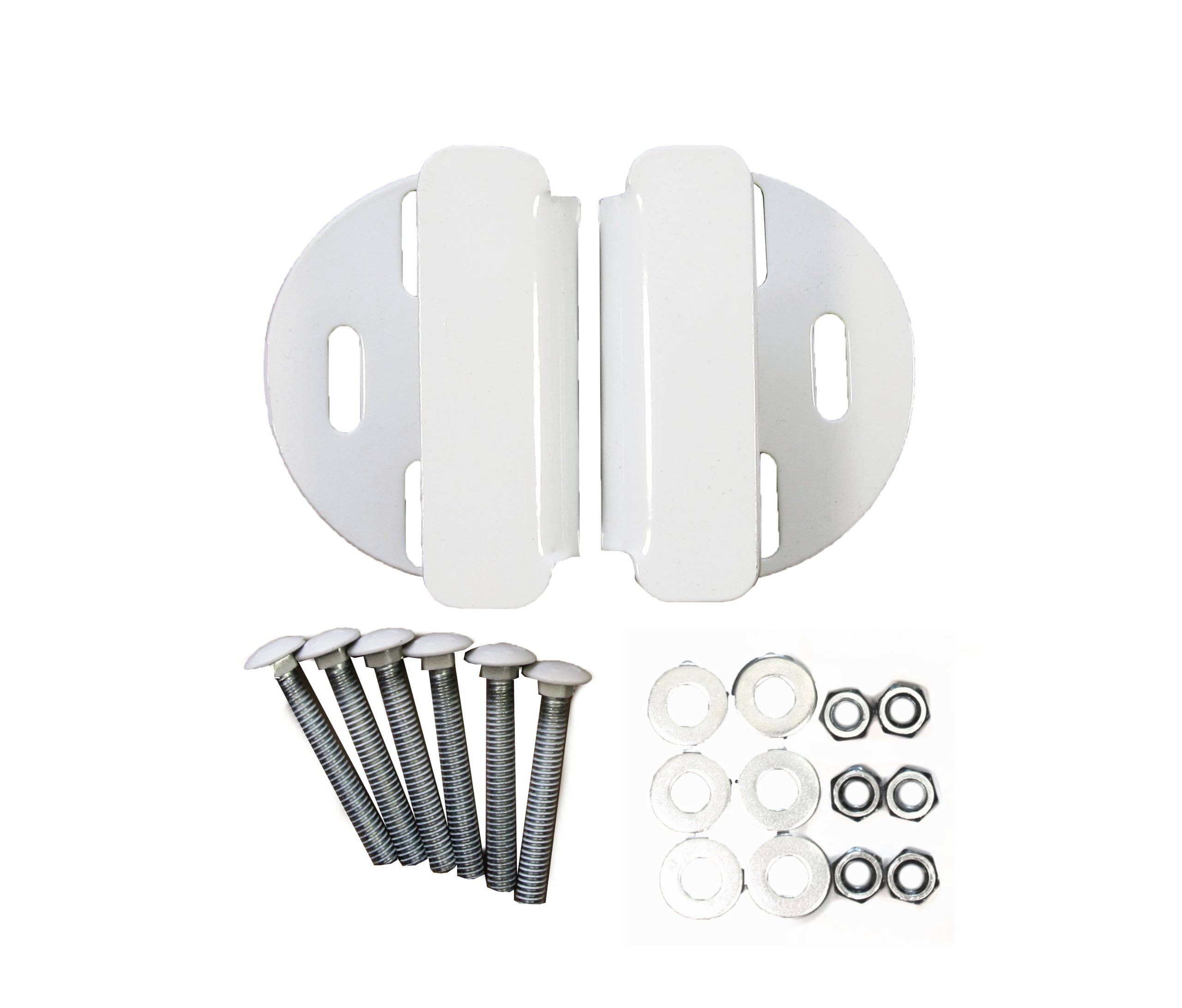 Padlock Protector Heavy Hasp and Handle (White)