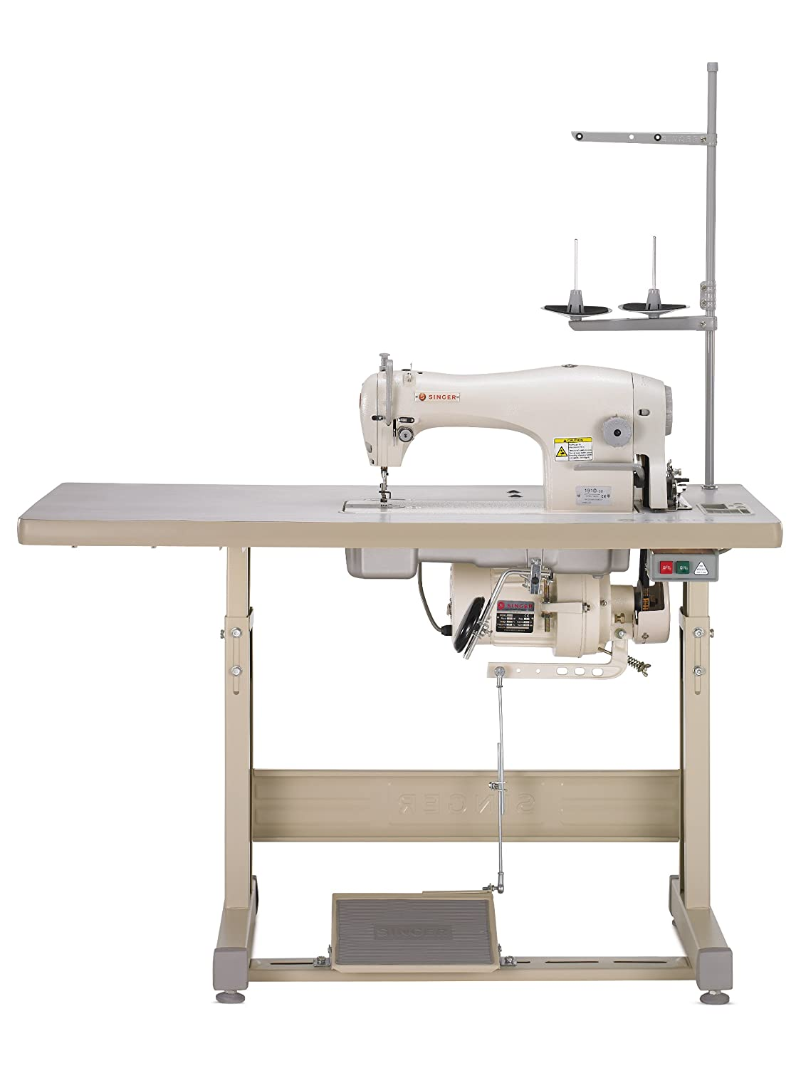 Amazon.com: Singer 191D-30 Complete Industrial Commercial-Grade Straight-Stitch  Sewing Machine Ideal for Medium to Heavy Fabrics: Arts, Crafts & Sewing