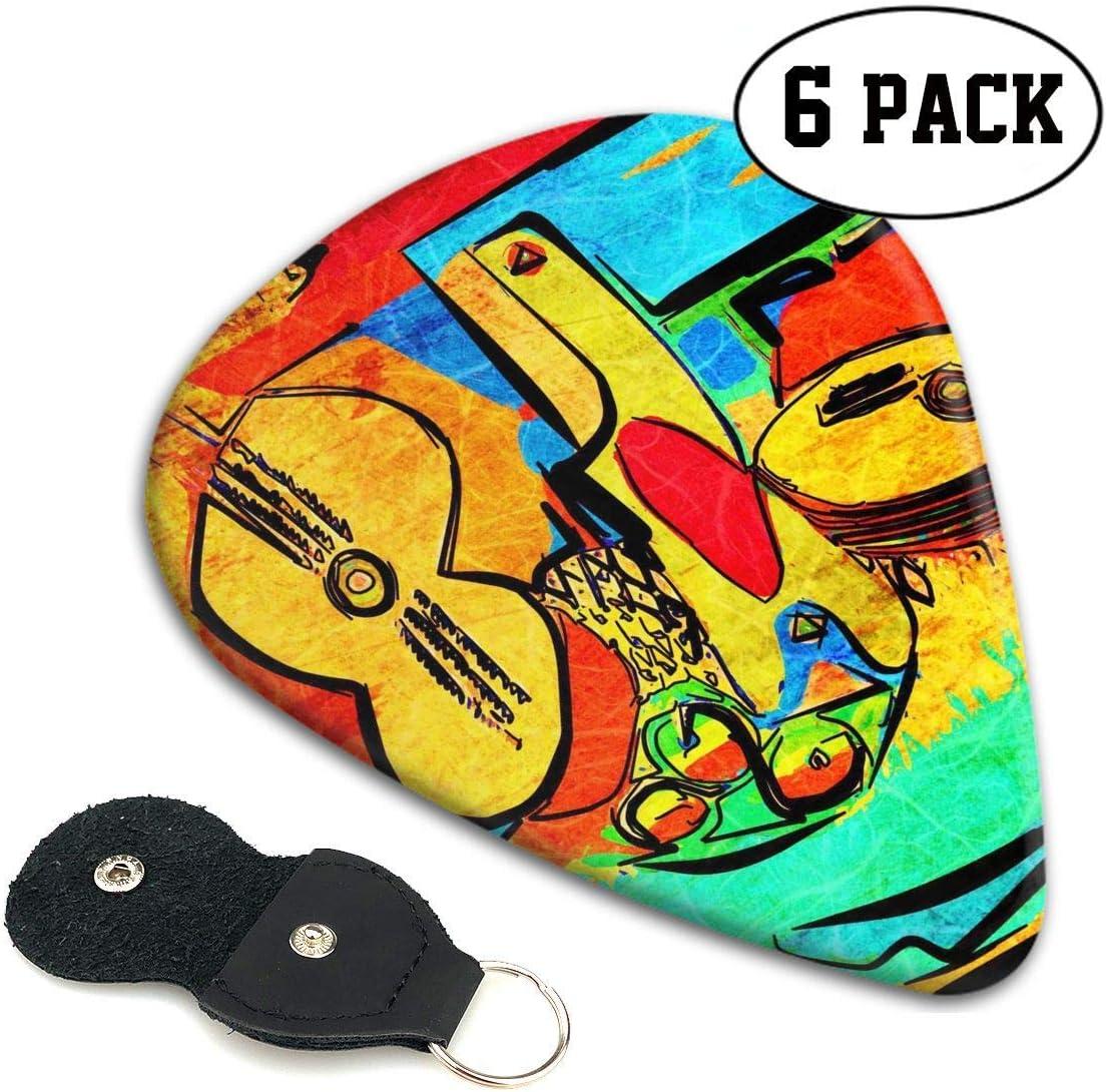 ManIron Picasso púas de celuloide para guitarra, mandolina y bajo ...