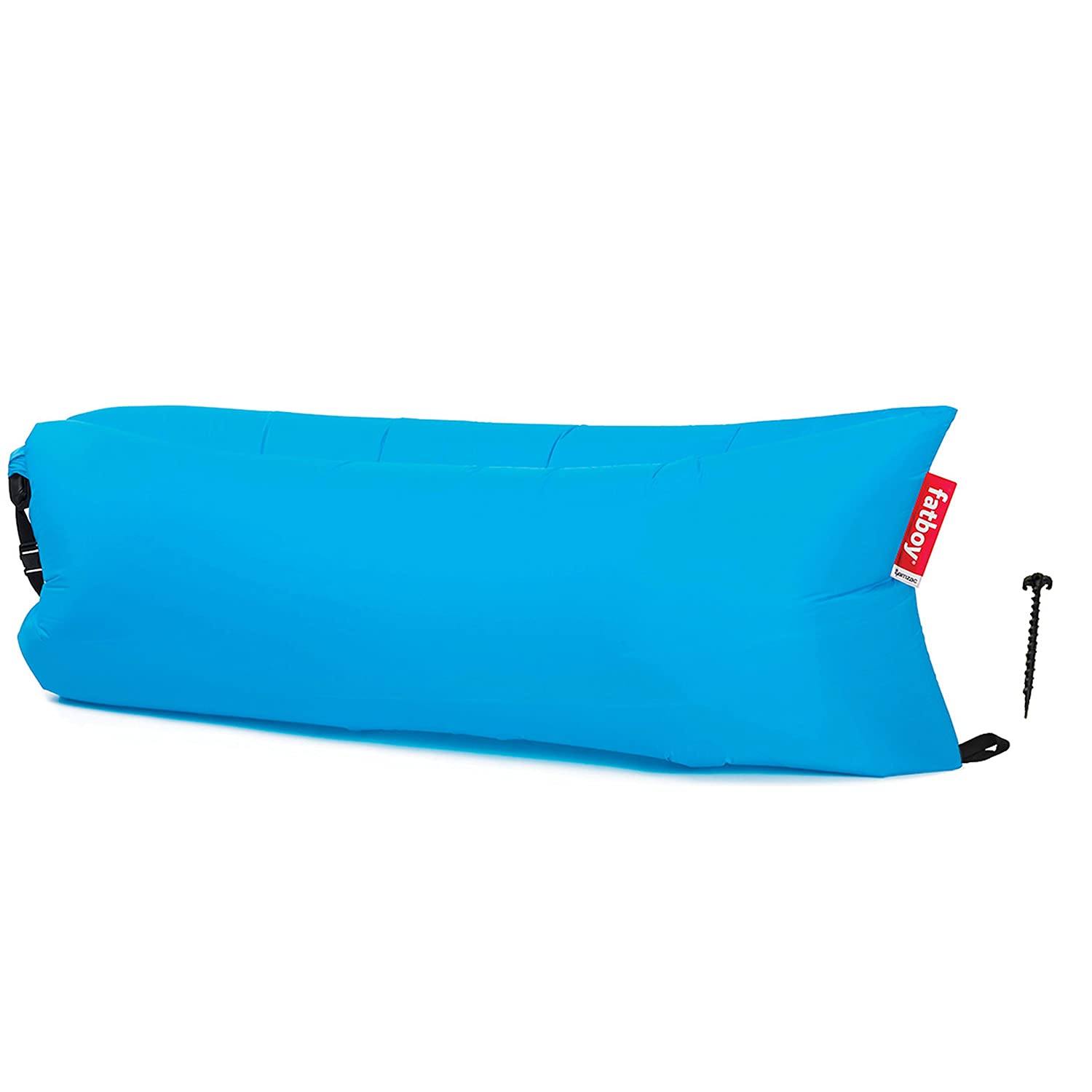 Fatboy Lamzac The Original Inflatable Air Lounger and Carry Bag Inflatable Couch for Indoor or Outdoor Hangout or Inflatable Lounge Air Chair Hawaii Blue LAM-HBLU