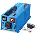 SUNGOLDPOWER 2000W Peak 6000W Pure Sine Wave Power Inverter DC 24V AC 110V With Battery AC Charger LCD Display Low Frequency Solar Converter BTS+Remote Control AC Priority Battery Priority Switch