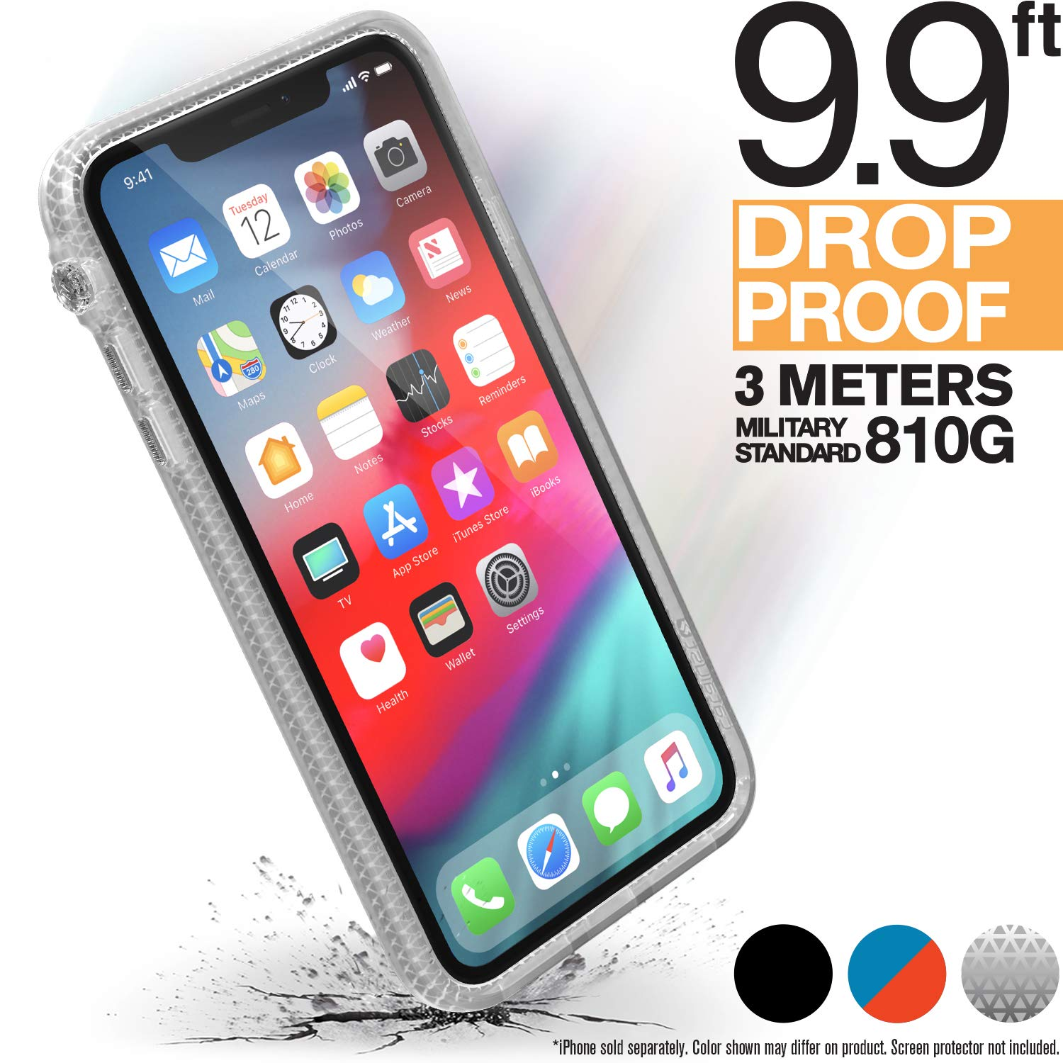 Catalyst iPhone XR Clear Case Impact Protection, Military Grade Drop and Shock Proof Premium Material Quality, Heavy Duty, Slim Design, Clear by Catalyst