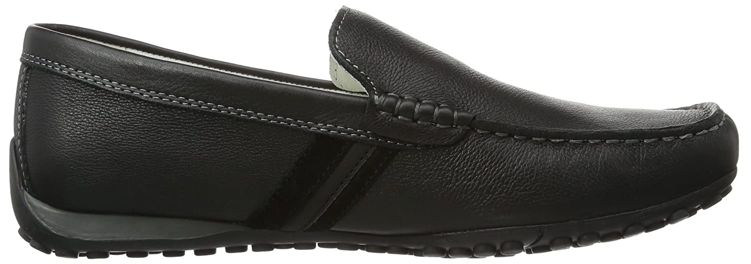 Amazon.com | Geox Mens Shoes U Snake Moc U Tumbled Leather Moccasins | Loafers & Slip-Ons
