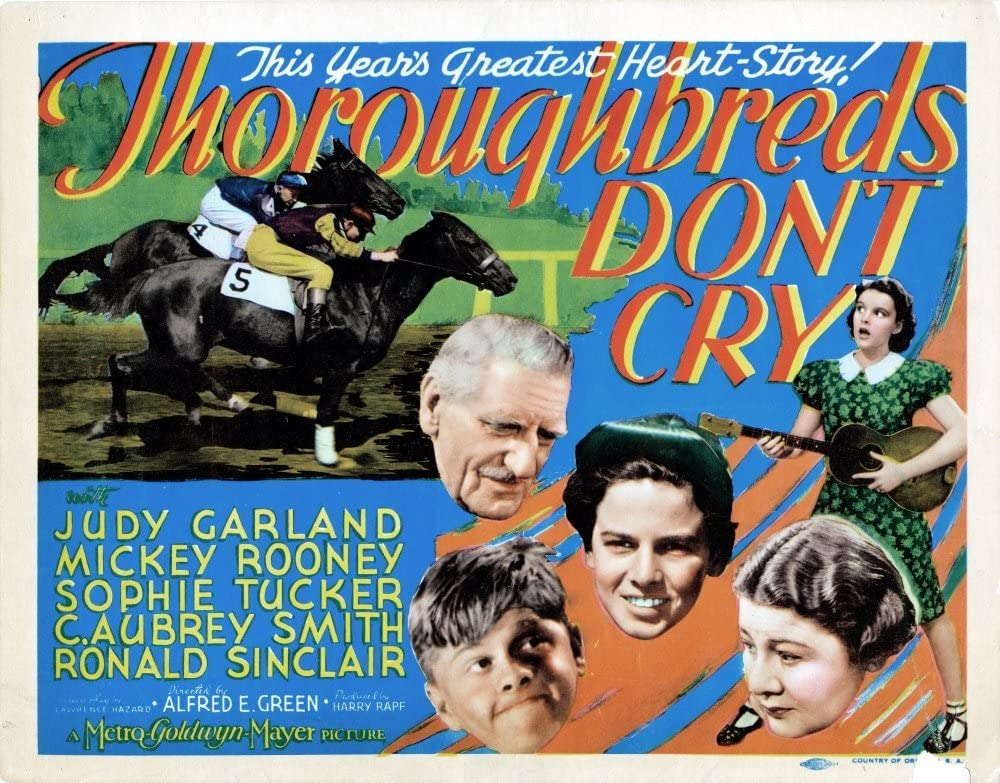Amazon.com: Posterazzi Thoroughbreds Don'T Cry Us Judy Garland Mickey  Rooney Sophie Tucker Ronald Sinclair C. Aubrey Smith 1937 Movie Masterprint  Poster Print, (28 x 22): Posters & Prints