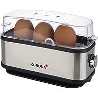 Korona 25304 Eierkoker | 1 tot 3 eieren | Enkel - Eierkoker | 210 Watt | Roestvrijstalen behuizing | Snoeropwinder