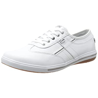 Keds Women's Craze T-Toe Leather, White, 7 M US | Fashion Sneakers