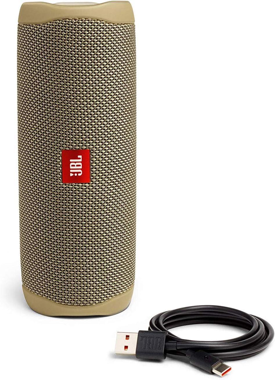 JBL FLIP 5 Waterproof Portable Bluetooth Speaker White New Model - JBLFLIP5WHTAM