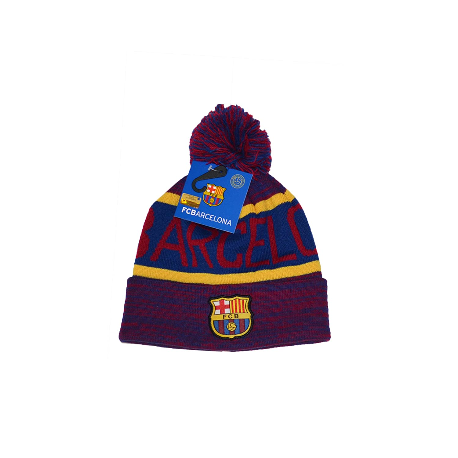 73d517d4310 F.C. Barcelona FC Barcelona Scarf Reversible and Beanie Pom Skull Cap Hat  and