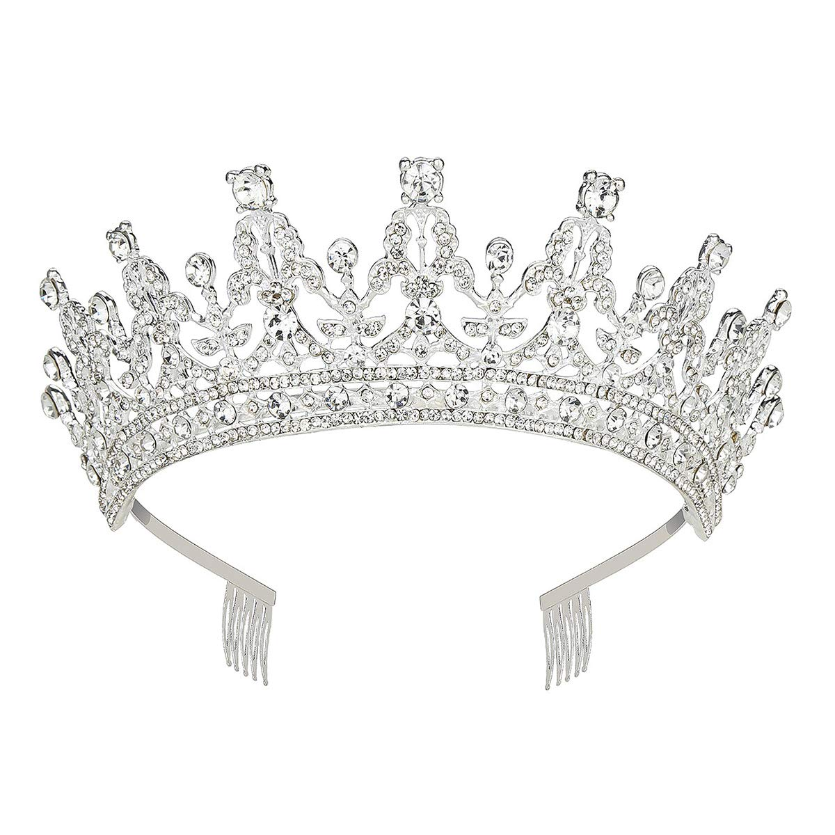 Makone Queen Tiaras and Crown with Comb for Womens Birthday Girls Prom Halloween Bridal Party Mother's Day Gift