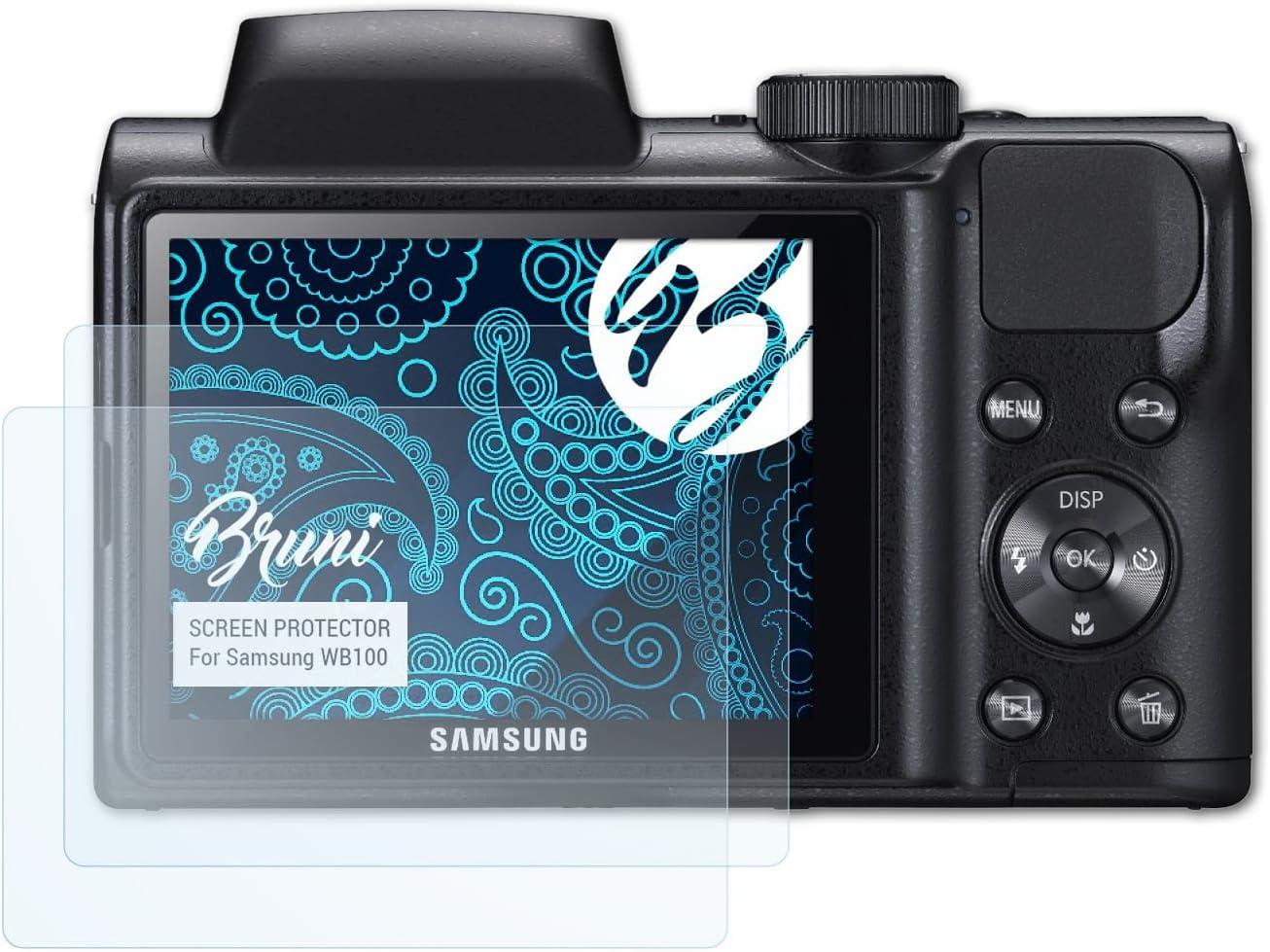 Bruni Película Protectora para Samsung WB100 Protector Película ...