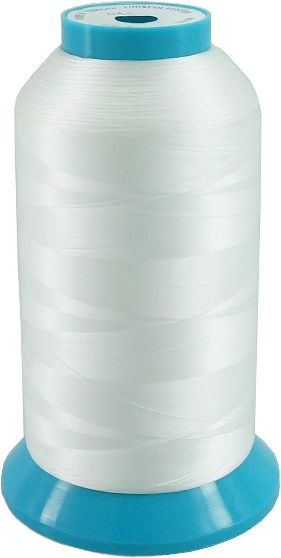 New brothread Blanco 5000M (5500Y) Poliéster Bordado Máquina Hilo Bobinas de hilo para máquina de bordado y coser