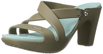 35efc0acf1 crocs Cyprus IV Heel Women Heel in Brown: Buy Online at Low Prices in India  - Amazon.in