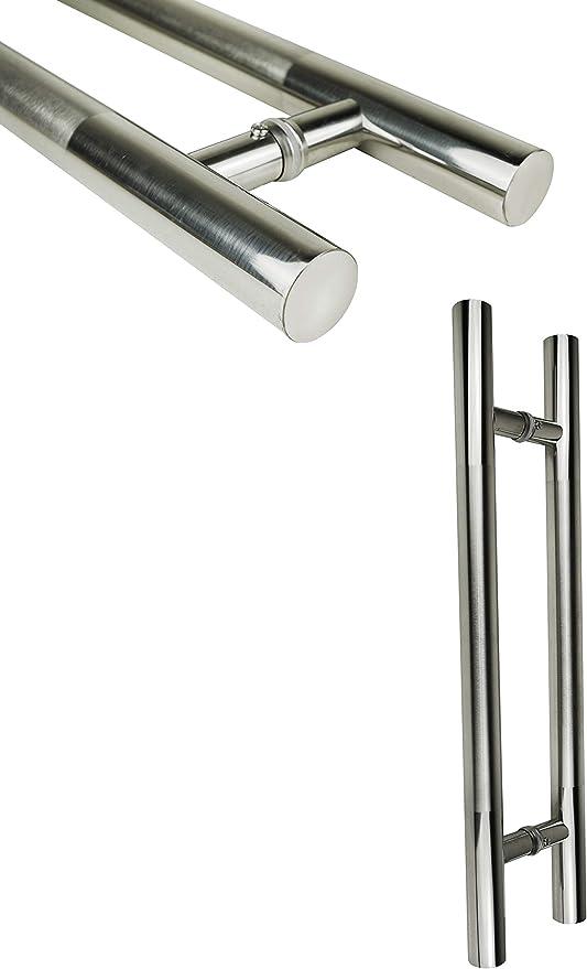 60 cm de acero inoxidable Haustürgriffe – Tirador de puerta puerta cristal de barra Tirador Puerta De Cristal Para Puerta WC: Amazon.es: Bricolaje y herramientas