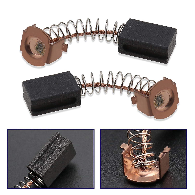 2 Paare Motor Kohleb/ürsten B/ürsten Winkelschleifer Kohlestifte Schleifermotor Ersatzteil 12 x 8 x 5 mm f/ür WS125 G720