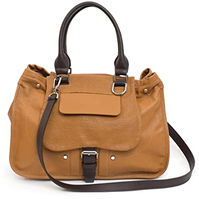 19238ed6591 LONGCHAMP Balzane Camel Tan Brown Leather Handbag Purse Saddle NEW Bag:  Handbags: Amazon.com