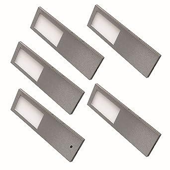 5-er LED Set Edelstahl Küchen Unterbauleuchte 5 x 5,2 W ...