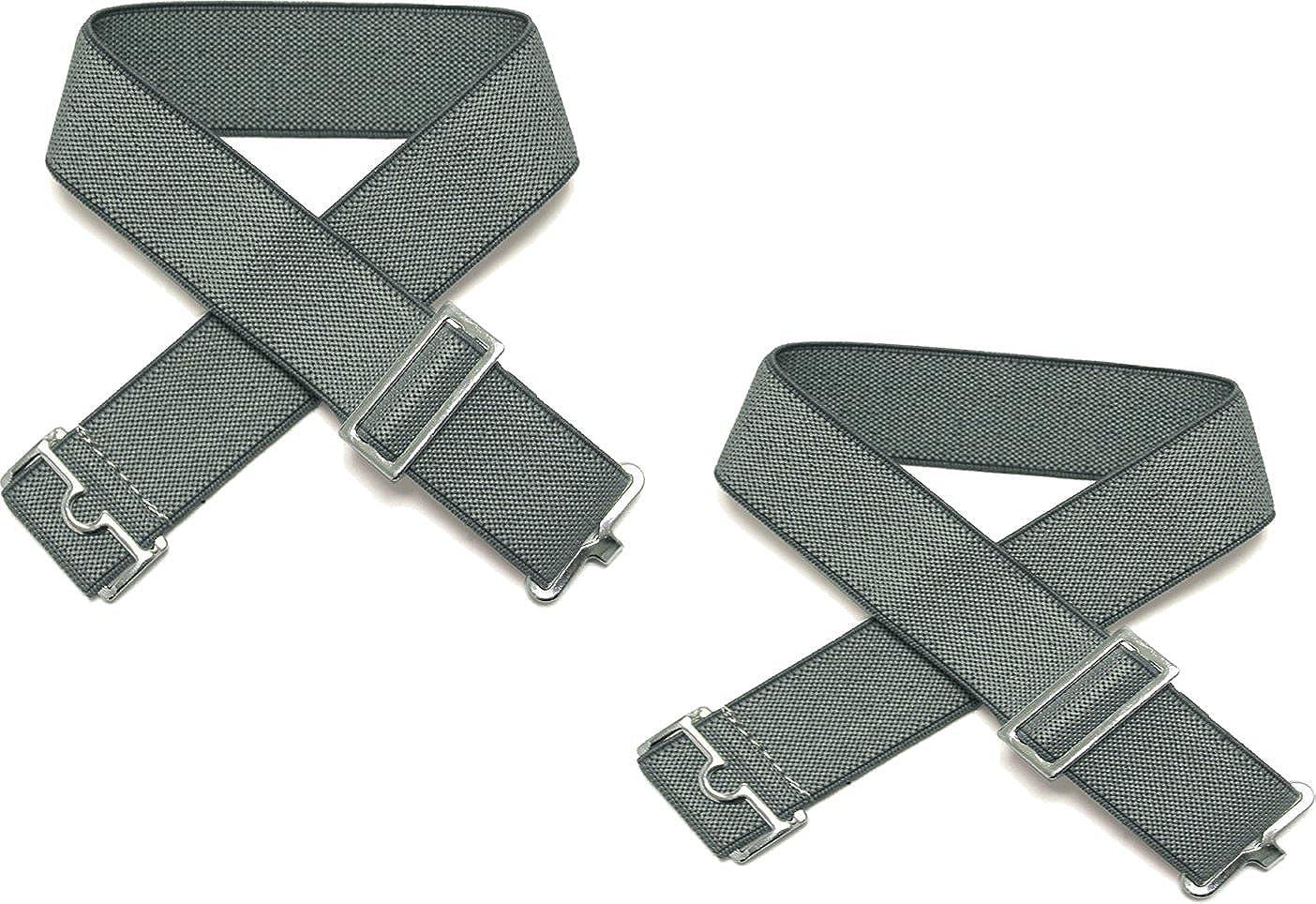 Magmouch Sophos Pair of Mens Elasticated Grey Sock Garters