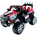 Toys & Motorades 2 Seater Heavy Duty Big Size Kids Ride Jeep - Red & Black