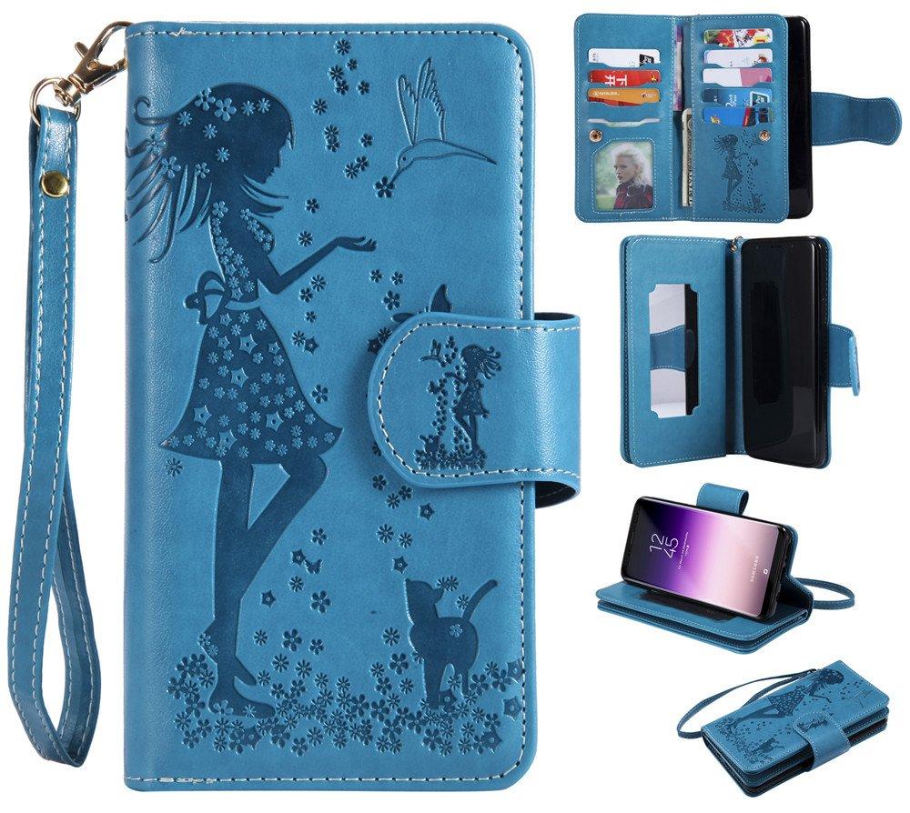 Galaxy S9 Plus Case, XYX PU Leather Wallet Case for Galaxy S9 Plus, Purple