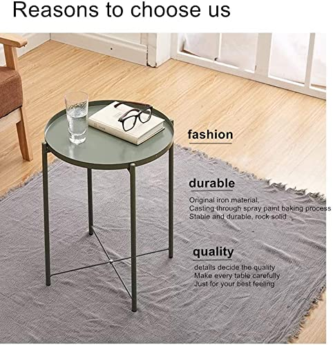 Folding Tray Metal Side Table