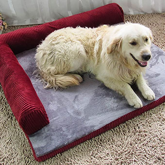 YOUJIA Sofa Cama Para Mascotas Perros Gatos Cama Cojín Sofá Cojines (Burdeos, S): Amazon.es: Hogar