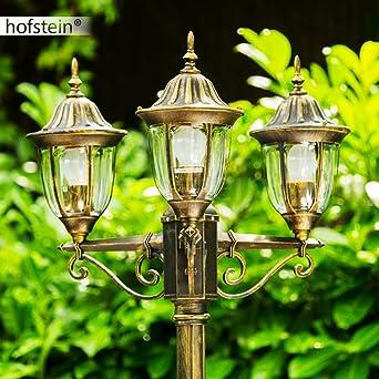 Lampadaire Ribadeo à 3 lampes en fonte d\'aluminium - Réverbère ...