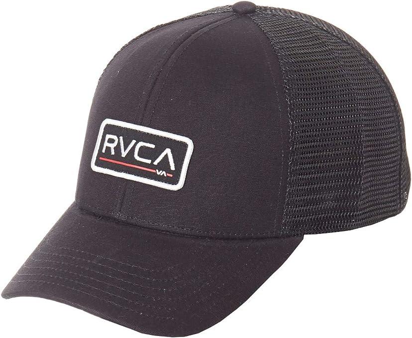 RVCA Gorra Trucker con Visera Curvada Ticket Negro (Default, Negro ...