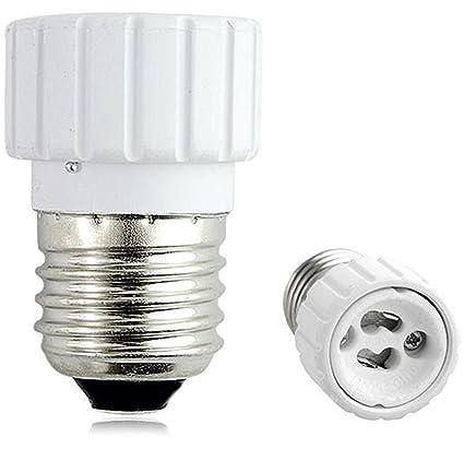 Casquillo Adaptador Conversor E27 a GU10 para bombilla lampara de Luz LED Halogena y de Bajo