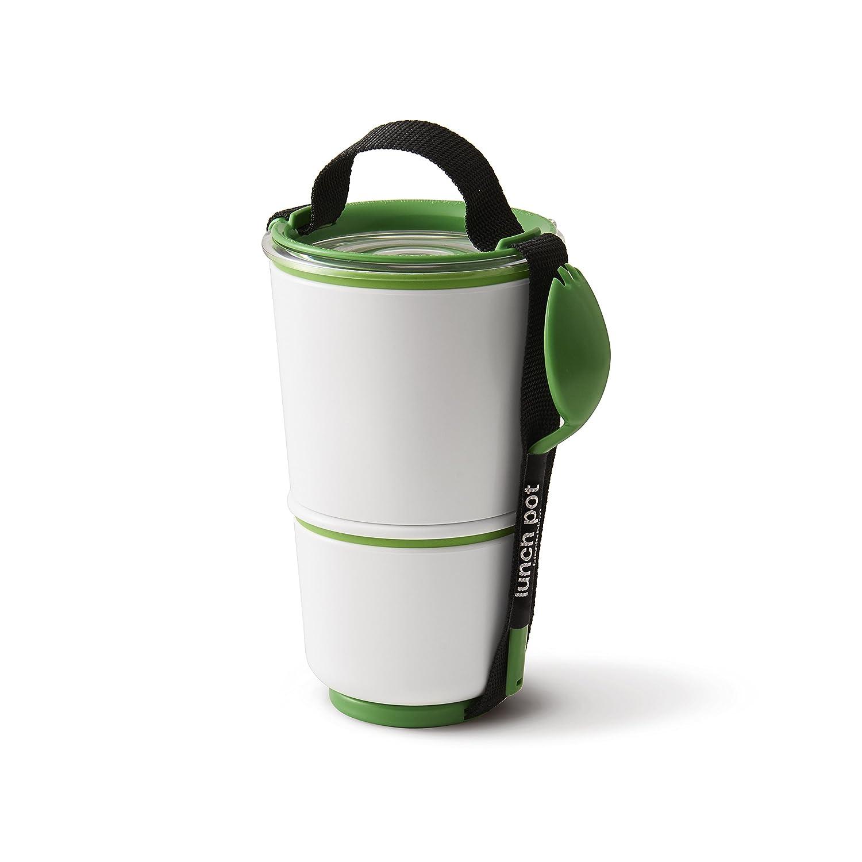 Black+blum - Fiambreras apilables (2 unidades), color verde BP001USA