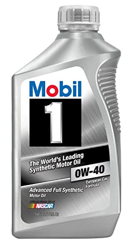 2. Mobil 1 96989 0W-40 Synthetic Motor Oil