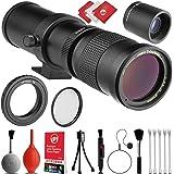 Digitalmate 420-1600mm Telephoto Zoom Sports & Wild Life Lens w/ 20PC Bundle for Canon EOS 80D, 77D, 70D, 60D, 7D, 6D, 5D, 7D Mark II, T7i, T6s, T6i, T6, T5i, T5, SL1 & SL2 Digital SLR Cameras