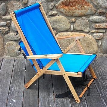 Back Pack Folding Chair In Atlantic Blue