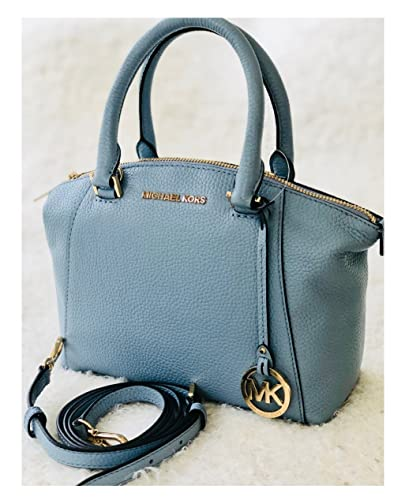 fca8ad4c7ec1 Amazon.com: Michael Kors Riley Pale Bue XS Satchel Leather Shoulder  Crossbody Top Handle Bag: Shoes