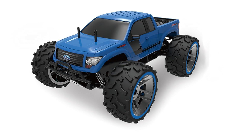 Amewi 22287 Ford F150 1:8 Blau, RTR, Lizenz Fahrzeug