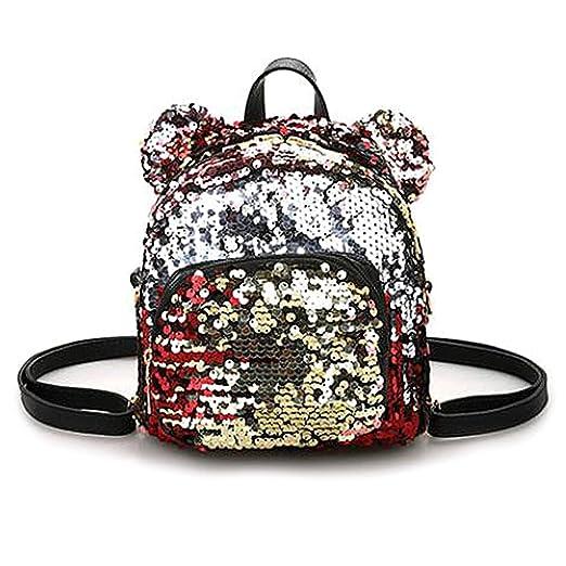 Amazon.com: Numkuda Women Girls Sequins Mini Backpack School Satchel Travel Shoulder Bag Rucksack (BLACK): Clothing