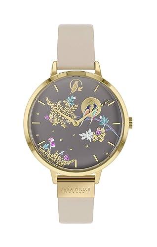 Sara Miller Chelsea Collection SA2020 - Reloj con Correa de Piel chapada en Oro: Amazon.es: Relojes