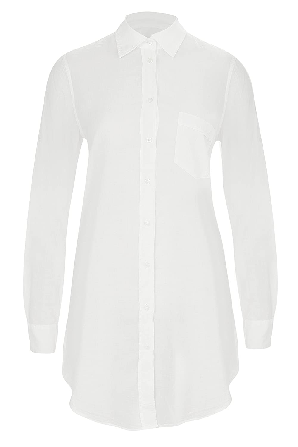0039 Italy Women's Tunic Classic Blouse white Wei?