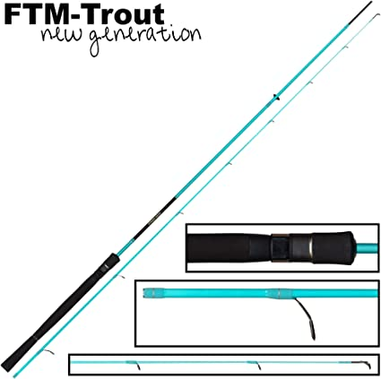 Spinnrute zum Spinnangeln auf Forellen Angelrute zum Forellenangeln FTM Strike Area 2,20m 1,2-6g Ultra Light Forellenrute