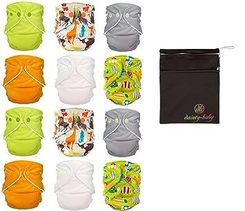 Amazoncom FuzziBunz One Size Adjustable Cloth Diapers Pack - Gender neutral colors