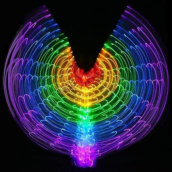 Con El Palillo Ajustable Mujeres Belly Dancing 5 Luces Led Color ...