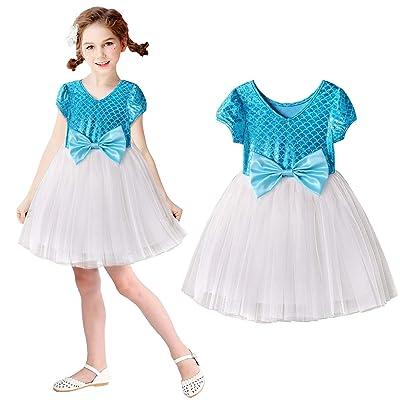 Acecharming Mermaid Dress for Girls, Little Ariel Princess Costume Girls Fancy Party Dresses: Clothing