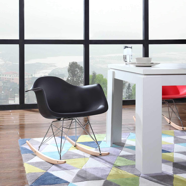 Amazon.com: Moderno juego de 2 sillón balancín Eames estilo ...