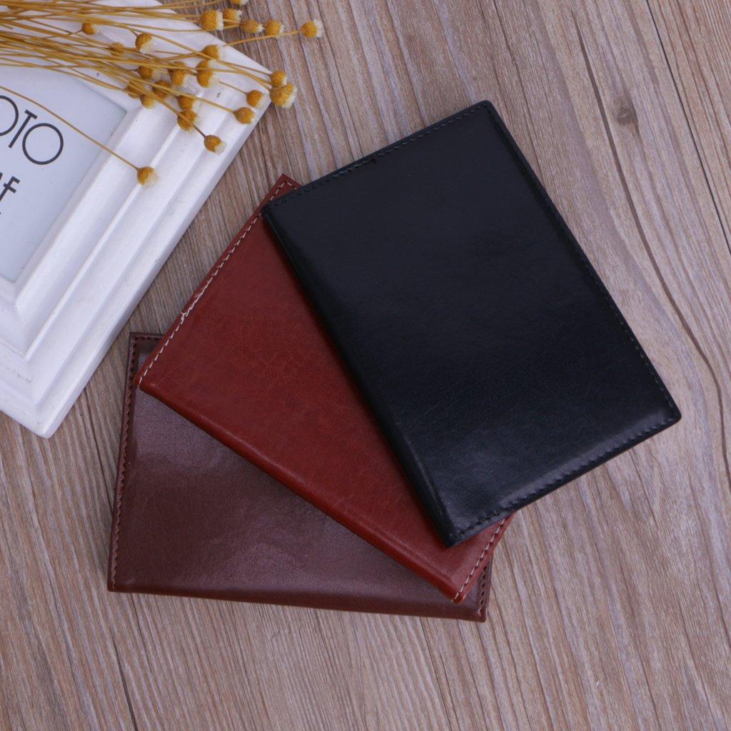 CADANIA Mini Cuaderno de Bolsillo Port/átil Diario Diario Libro PU Cubierta de Cuero Blocs de Notas Negro